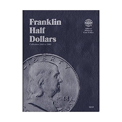 1948-1963 BENJAMIN FRANKLIN HALF DOLLAR ALBUM TRIFOLD 35 coin WHITMAN No 9032 COIN; ALBUM, BINDER, BOARD, BOOK, CARD, COLLECTION, FOLDER, HOLDER, PAGE, PORTFOLIO, PUBLICATION, SET, VOLUME