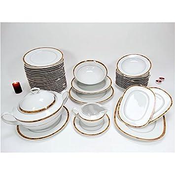 Autre - Service de table Vaisselle en porcelaine de Bavière pour 12  personnes 44 pièces 6d16bf237c36