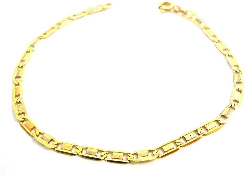 5447d45eacd8 ROJO blanco y amarillo oro cadena pulsera de 18 KT - Oro giallo 18 ...