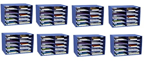 Classroom Keepers 10 Slot Sorter Mail Box and Literature Organizer (Pack of 8)