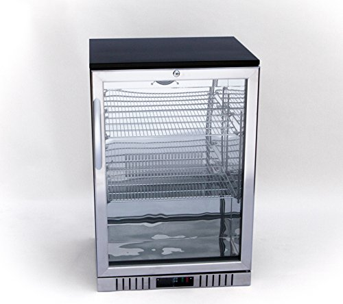 24″ Stainless Steel and Glass Door Back Bar Beverage Cooler, Counter Height