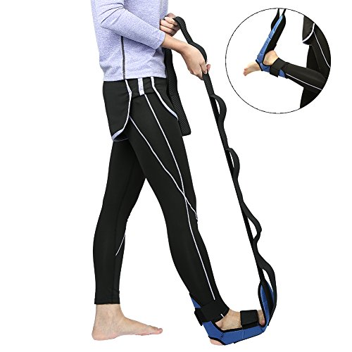 Yoga Stretch Out Strap – Adorime Leg Stretching Straps Exercise Band with Multiple Resistance Grip Loop Holder for Yoga, Dancer, Physical Therapy, Gravity Fitness