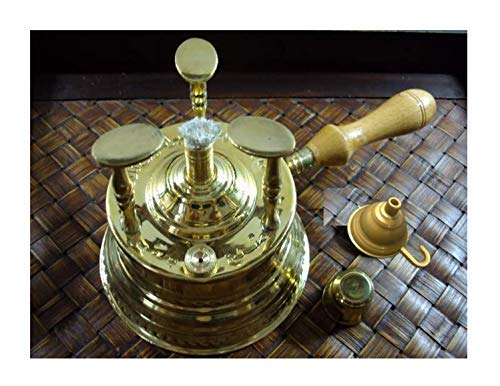 ELBARAMONY Brass Turkish Coffee Maker Table Top Alcohol Burner Lrg 428