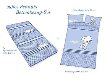 Baby Bettwäsche 3 tlg Set 100/% Bio Baumwolle Spannbettlaken Bezug Kissenbezug