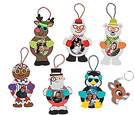 Amazon.com: Silly Christmas Character Foam Picture Frame Ornament ...