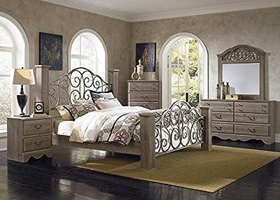 Sherbrook 8 Pc. Queen Bedroom Furniture Set In Rustic Pine