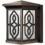 The Great Outdoors by Minka-Lavery Seneca LED 9-Inch Wall Mount Square Lantern in Bronze