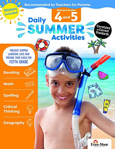 Read Online Evan-Moor Daily Summer Activities, Between 4th Grade and 5th Grade Activity Book; Children's Summer Bridge Activities ebook