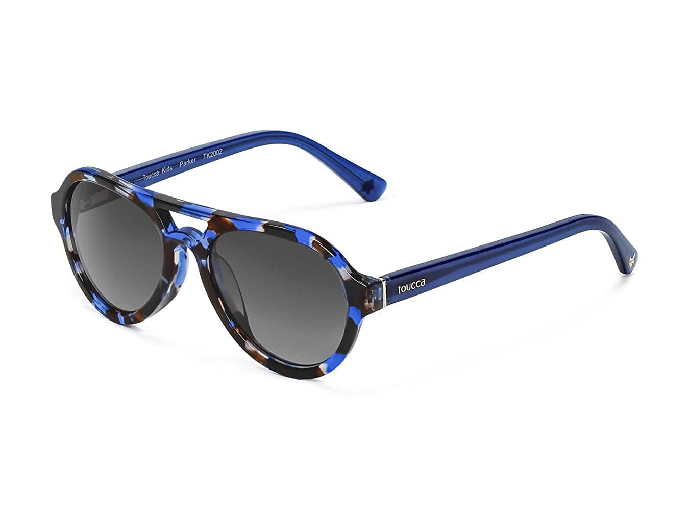toucca kids: Polarized Aviator Sunglasses, Unisex for Toddlers & Children Ages 2-6 | Durable, Comfortable & Stylish (Includes Cases) Blue Tortoise