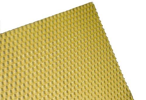 Imkereibedarf Florian Schmidt 2, 5 kg Zander Mittelwände aus 100% reinem Bienenwachs Zandermaß 395 x 195 mm Mittelwand ca 32 Stk.
