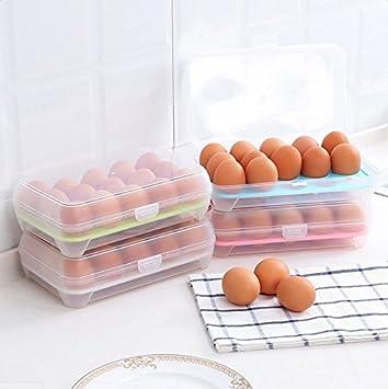 Huevos Llevar Caso Caja de almacenamiento para refrigerador de cocina Caja de acabado para almacenamiento multifuncional Contenedor para picnic Portatil ...