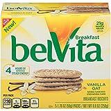 belVita Vanilla Oat Breakfast Biscuits, 5 Count Box, 8.8 Ounce