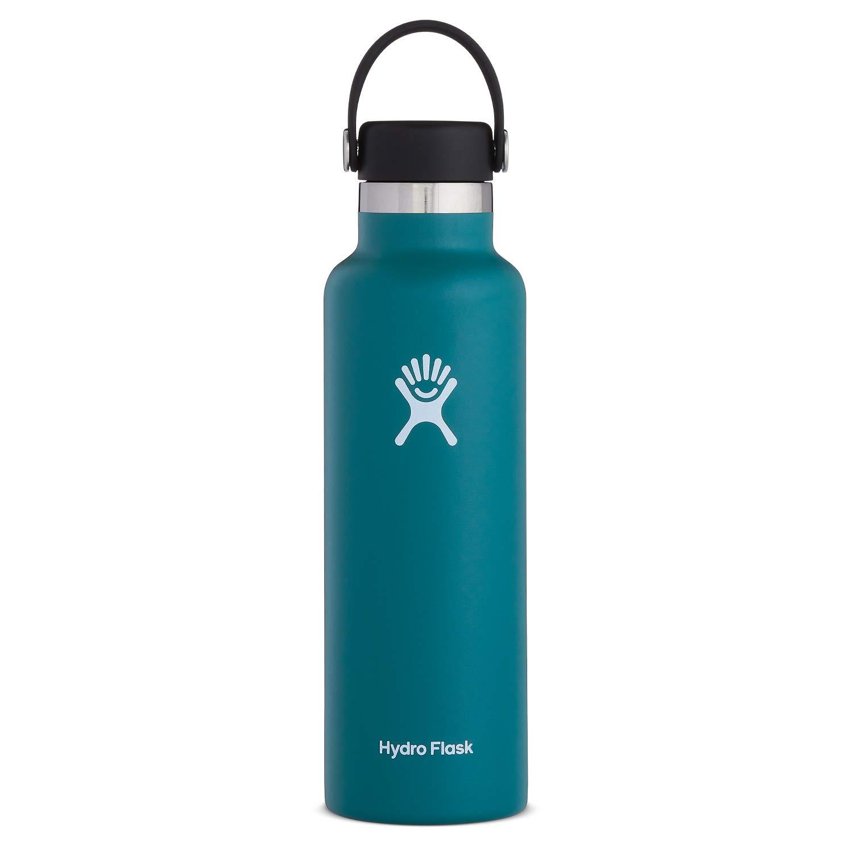 Hydro Flask Standard Mouth Water Bottle, Flex Cap - 21 oz, Jade by Hydro Flask