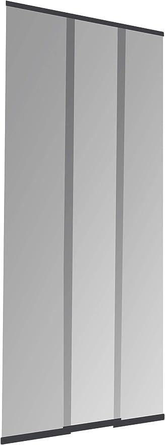 Windhager Puerta laminar mosquitera Plus Easy Cortina fácil de Lamas, acortable Individualmente, 95 x 220 cm, Antracita, 03781: Amazon.es: Jardín
