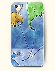 OOFIT Phone Case Design with Elephant-shaped Kite for Apple iPhone 4 4s 4g