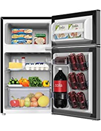 Avanti RA31B3S Counter-Height 3.1 Cu. Ft Two-Door Refrigerator/Freezer, Black/Stainless Steel