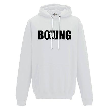 KiarenzaFD Sudadera Capucha Boxeo Boxing Rocky Ring Saco Sport Combate 1 Hombre, Blanco, XX