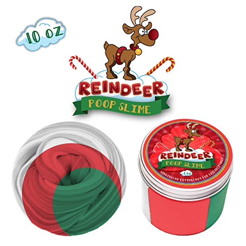 Playful Reindeer - My Playful Kiddos Fluffy Poop Reindeer Poop Slime kit for Girls - Soft Extra Fluffy Floam Putty Package