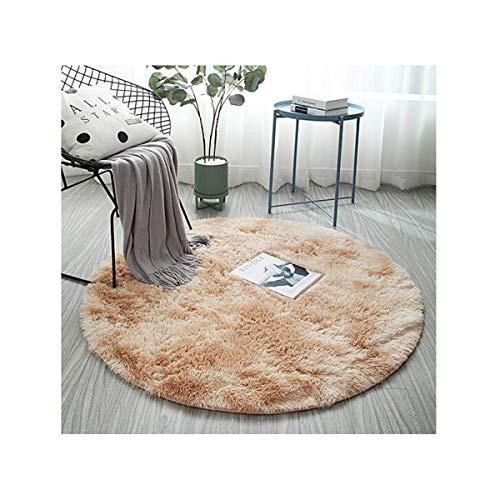Alfombra de la sala Sofa Mesa de cafe dormitorio de noche redonda Mat Camel Diametro 100cm la decoracion del hogar BBGSFDC