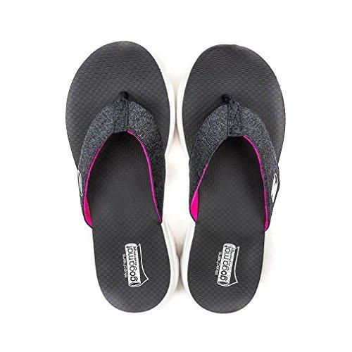 Skechers Gowalk Move Solstice, Sandales de marche Femme Tan