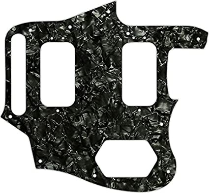 WD Custom Pickguard For Fender Classic Player Jaguar Special HH #09 Black//Whi...