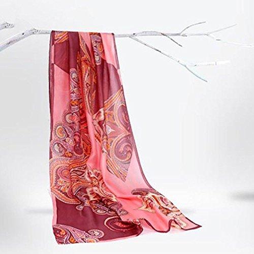 RENYZ.ZKHN Silk Scarf All-Match Silk Scarf Female Long Scarf Scarf Shawl and 60  175Cm
