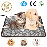 Pet Heating Pad for Dogs & Cats Electric Heated Blanket Indoor Waterproof Winter Puppy Kitty Warming Beds Mat with Chew Resistant Steel Cord, Size 18″ x 18″ For Sale