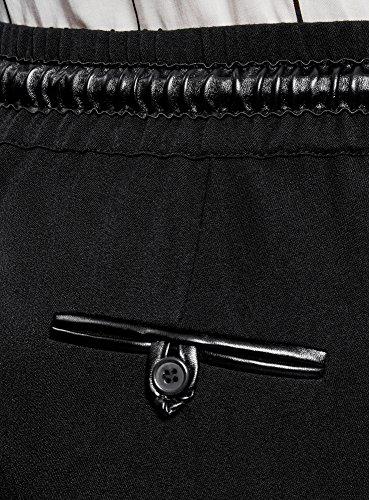 Nero In Con Elastico 2900n Ultra Dritti Pantaloni Donna Oodji Vita qAgwOHY