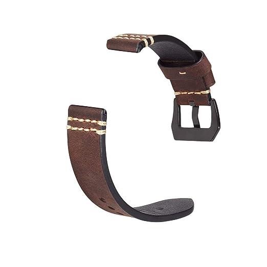 para Fitbit Charge 3 oda Lujo Cuero Pulsera Simple Elegante Repuesto Band Noble Reemplazo de Banda Accesorios de Repuesto de Cuero de Lujo Correas de ...