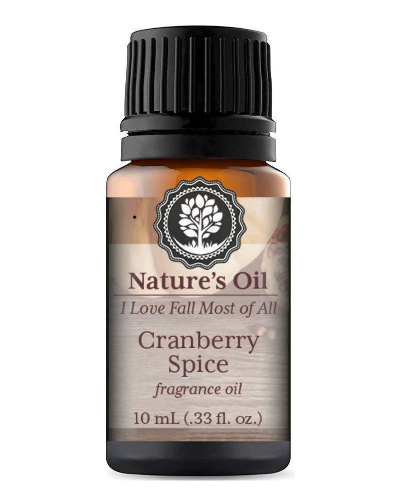 Cranberry Spice Fragrance Oil 10ml for Fall Diffuser Oils, Making Soap, Candles, Lotion, Home Scents, Linen Spray and Lotion