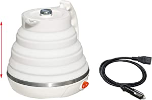 12V/24V Electric Car Kettle, Car Automobile Cigarette Lighter Portable Foldable Electric Kettle Pot for Hot Water Coffee Tea,12V