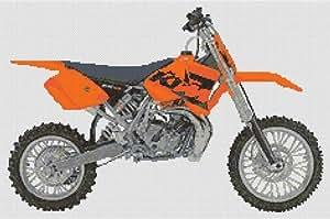 KTM 65Kit de punto de cruz, diseño de moto