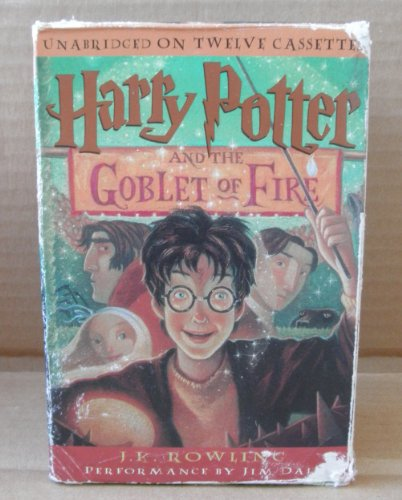 Harry Potter & The Goblet of Fire Audiobook Cassette Tapes - UNABRIDGED - 20 Hours - 12 Cassettes - INCOMPLETE MISSING THE FINAL TAPE- ONLY cassettes 1-11 out of the 12