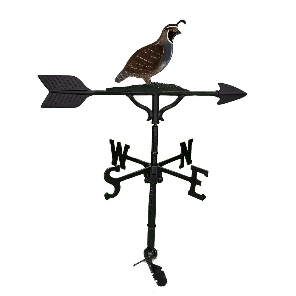 Montague Metal Products Quail Weathervane, 32-Inch, Natural