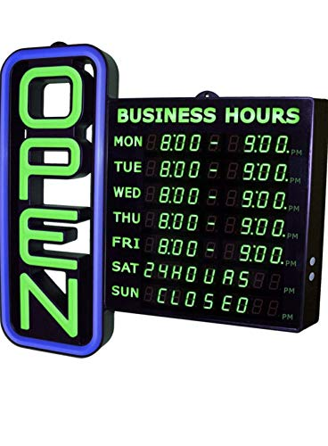 Open Hours Sign for Business LED with Flashing Effects 18