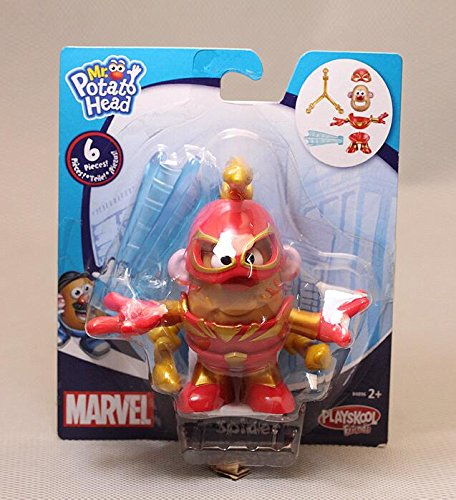 4pcs/lot Mr Potato Head Figures Toy Mr. Potato Cosplay Avengers Captain America Spider Man Iron Man PVC Toys with Retail - A To Costume Police How Make