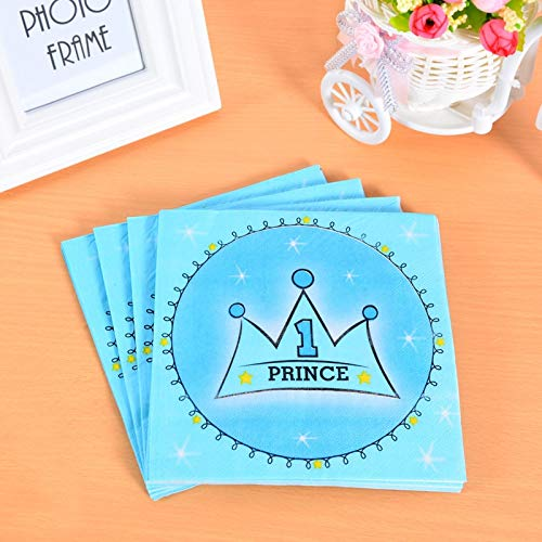 Taka Co Birthday Party Decoration 20 Sheets Disposable Party Tableware Paper Napkin for Boy Girl Happy Birthday Baby Shower Holiday Party Supplies Decorations-1