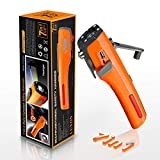 LUXON Emergency Tool 7-in-1 Car Safety Tool Includes Window Breaker Seat Belt Cutter LED Flashlight Rescue Tool Contains USB Charger SOS Light & Hand Cranking Charge for Vehicle Escape/Field Survival
