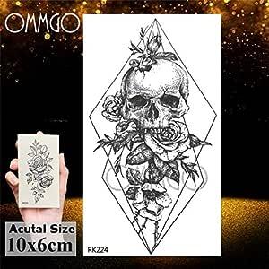 Handaxian 3pcs triángulo de Diamante Etiqueta Dama Tatuaje del ...