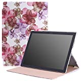 Microsoft Surface Pro 4 Case - MoKo Ultra Slim Lightweight Smart-shell Stand Cover Case for Microsoft Surface Pro 4 12.3 inch Tablet, Floral PURPLE