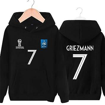 WARMHEAT MBAPPE Fútbol Suéter del Equipo 2018 de la Copa del Mundo de fútbol de Francia,Griezmann,2XS(120-135CM): Amazon.es: Deportes y aire libre