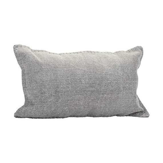 Solid Dhurrie Light Gray 20 x 12 Indoor Outdoor Throw Pillow - Proudly filled and finished in the USA; Made of 100% high quality Polyester fiber materials Throw pillow measures approximately 20 x 12 inches finished seam to finished seam; Includes pillow form Rich colors and pattern design is weather and fade resistant up to 500 hours of direct sunlight; For longer life cover or store when not in use - patio, outdoor-throw-pillows, outdoor-decor - 511HYZ2TLJL. SS570  -