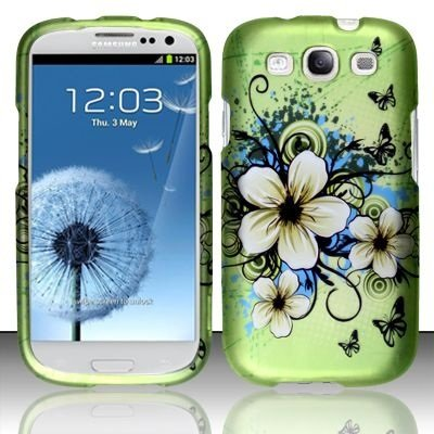 Boundle Accessory for Verizon Samsung Galaxy S III I9300 - Hawaii Flower Hard Case Protector Cover + Lf Stylus Pen
