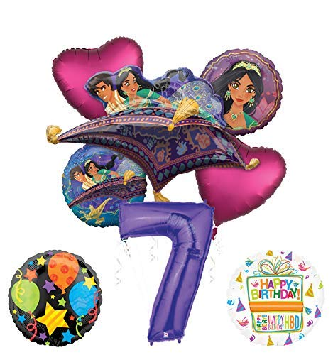 Mayflower Products Aladdin 7th Birthday Party Supplies Princess
