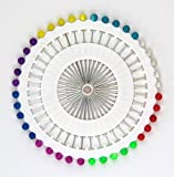 Craft Pin Wheel - 40 Pins - Ball Shaped Pin Heads Sewing Needles / Quilting Pins Hook For Knitting Needle For Sewing Machines^.