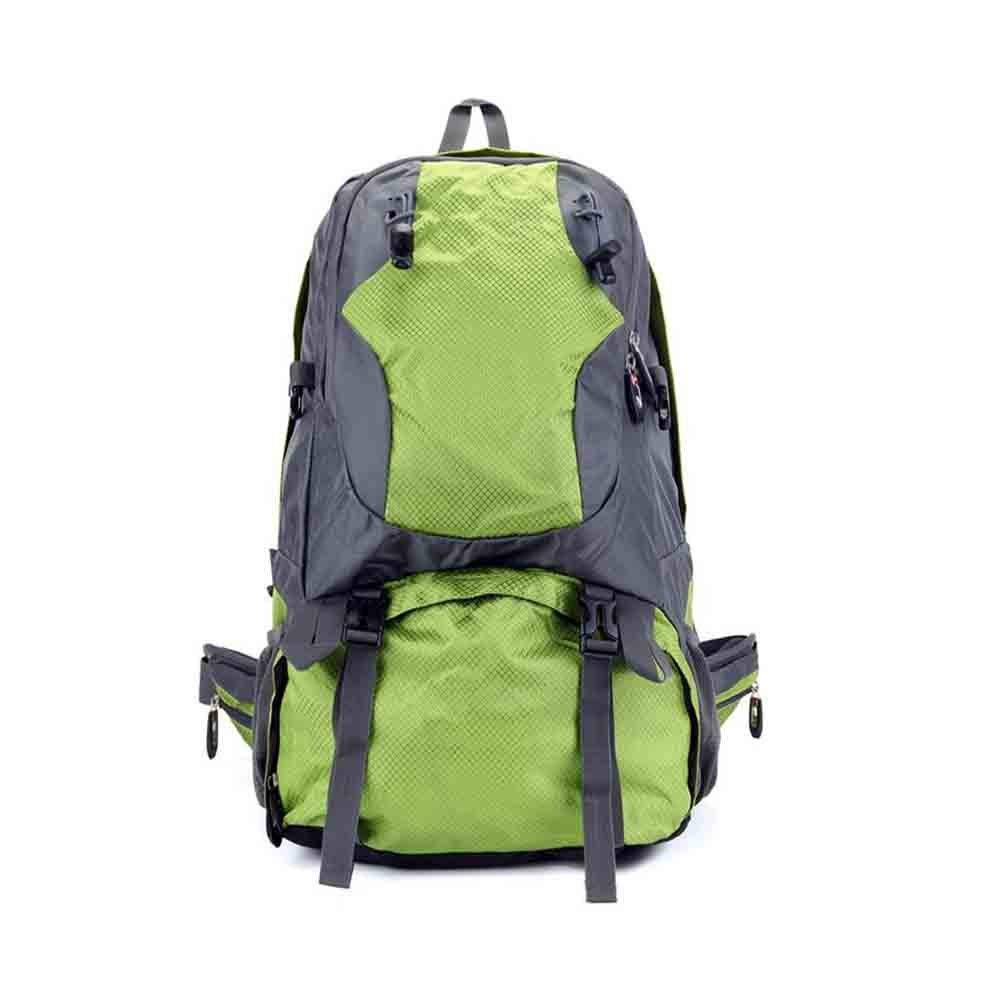 登山バッグ男性と女性の旅行バックパックアウトドアスポーツバイクバッグオックスフォード布ライト防水ハイキングキャンプバッグ大容量大容量45L   B07NZZH8Y4