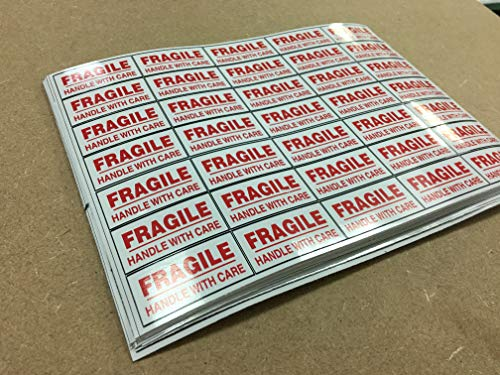 70 Fragile Stickers - Self-Adhesive Labels Please Handle with Care