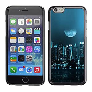 LauStart ( Moon City ) iPhone 6 Arte & dise?o plš¢stico duro Fundas Cover Cubre Hard Case Cover para
