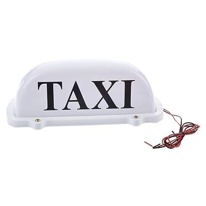 Amazon.com: SODIAL (R) Taxi Roof Luz con Base Magnética Luz ...