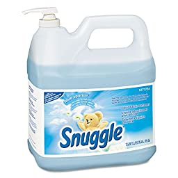Snuggle DRK5777724 Liquid Fabric Softener, Blue Sparkle, Floral Scent, 2 Gal Bottle, 2/carton